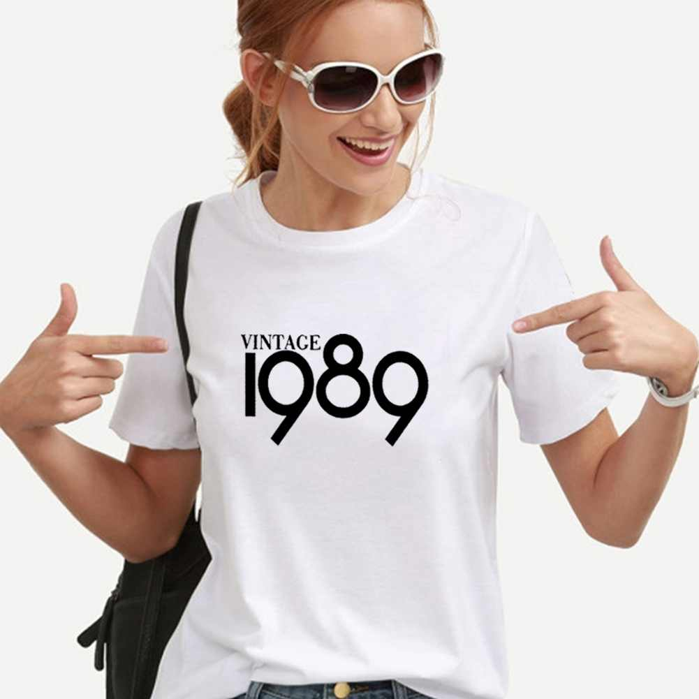VINTAGE 1989 Printed T-shirt Women Top Summer O-neck Short Sleeve Tee Shirt Femme Loose Casual Tshirt Women Dropshipping