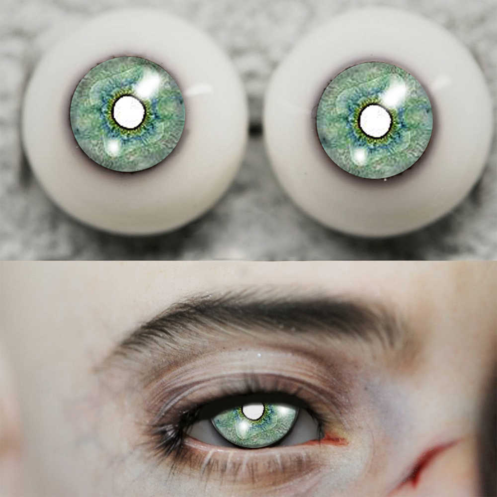 bjd eyes Green Watercolor painting eyeball for 1/4 1/3 1/6 1/ 8 BJD SD MSD Doll plastic 12mm 14mm 16 doll accessories with tail