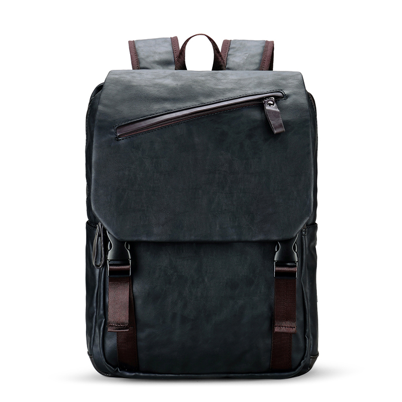 NEW Famous Brand Preppy Style Leather School Backpack Bag For College Simple Design Men Casual Daypacks Mochila Male