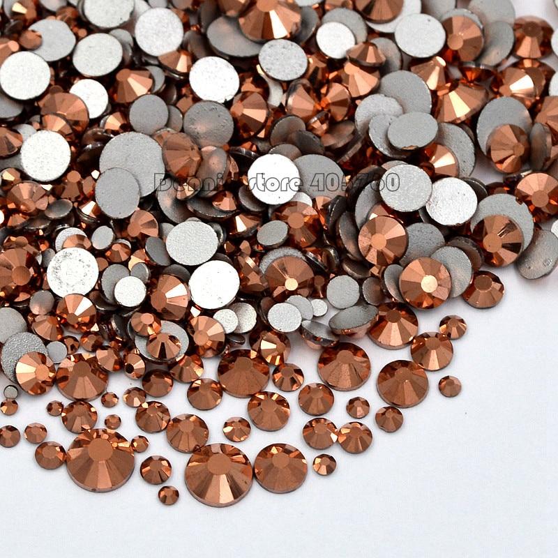 Wholesale 1400PCS Rose Gold 3D Diamond Facet Flat Back Rhinestones Acrylic Nail Art Gems ...