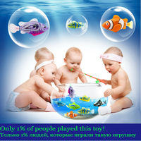 MLITDIS Luminous Toy Led Toys Kids Bath Water Waterproof Robofish Activated Battery Powered Toy Fish Robotic