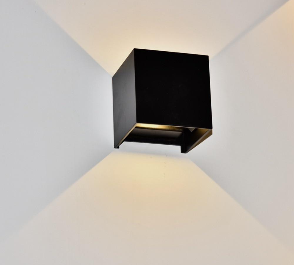 Işıklar ve Aydınlatma'ten LED İç Mekan Duvar Lambaları'de Su geçirmez Küp COB led duvar Lambası Modern 6W Alüminyum Ayarlanabilir led ışık Açık Kapalı Ev Aydınlatma Yukarı ve Aşağı Duvar Aplikleri title=