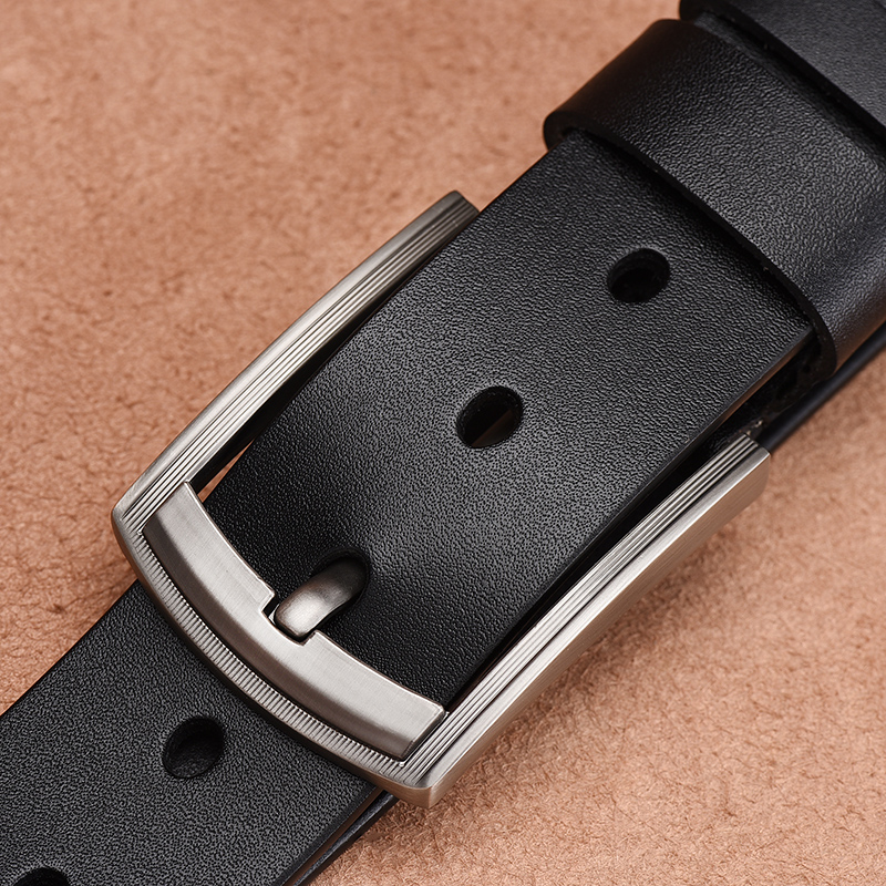 [LFMB]leather Belt Men Pin Buckle Fancy Vintage Jeans Male Genuine Leather Strap Belts Cummerbunds Belt Male Men Belt