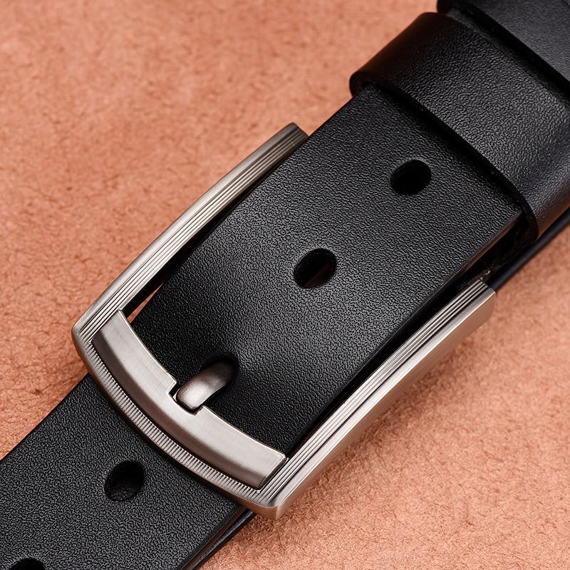 [LFMB]leather Belt Men Pin Buckle Fancy Vintage Jeans Male Genuine Leather Strap Belts Cummerbunds Belt Male Men Belt