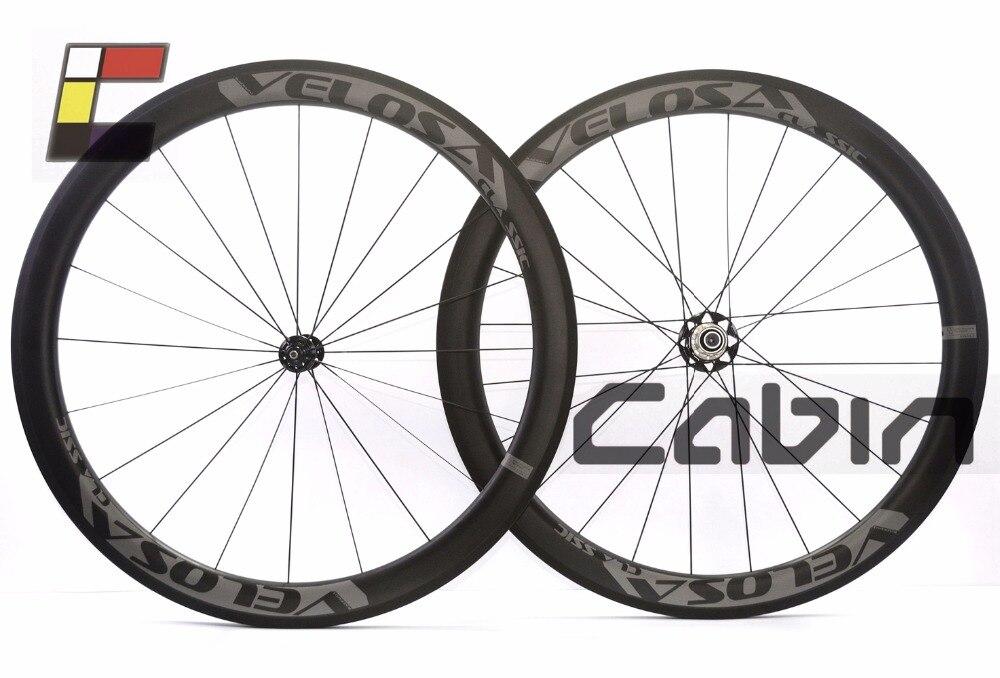 Velosa RACE0 50 classic bike carbon wheelset, 50mm clincher/tubular ,light weight 700C road bike wheel,1310g tt106n16kof eupec scr module tt106n16kof power scr module new spot