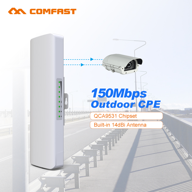 2pc QCA9531 Long Range Outdoor wireless repeater CPE 2.4G 14dbi Antenna wi-fi Signal Booster Amplifier router access Bridge cpe 2pcs 5 8g 300mbps cpe wifi signal booster amplifier network bridge 2 14dbi antenna wi fi access point nanostatio for ip camera