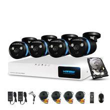 H. Vue Système de Caméra de Sécurité 4ch CCTV Système DVR Système de Sécurité 4CH 1 TB 4×1080 P Caméra de Sécurité 2.0mp Caméra DIY Kits