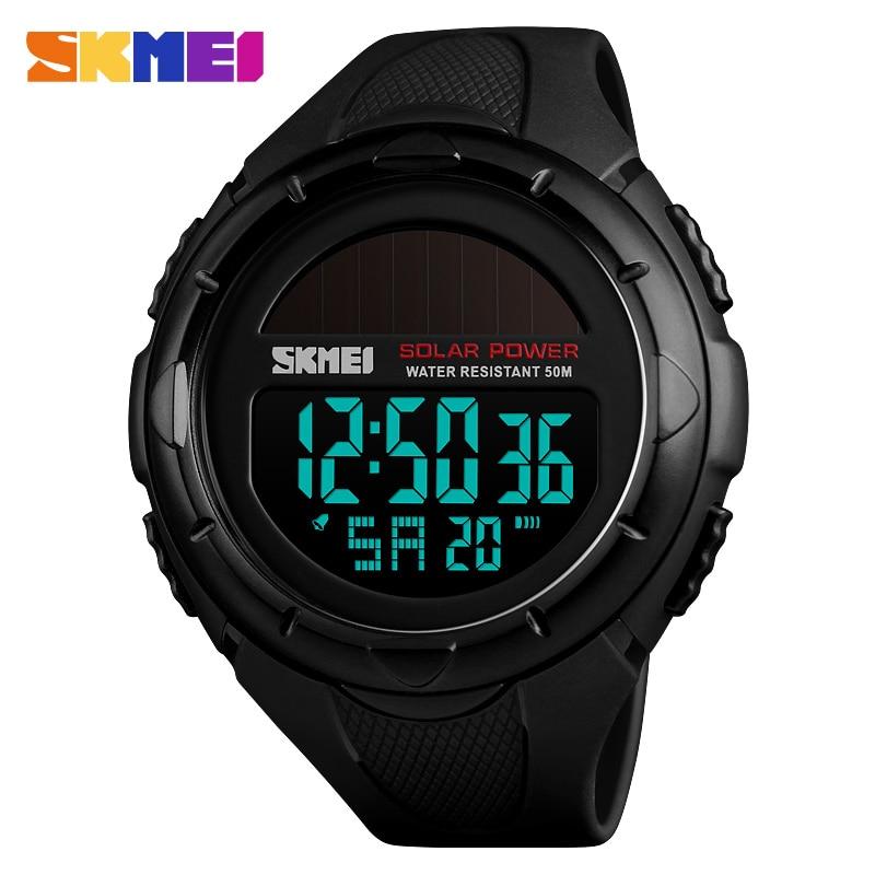 Skmei Solar Watch Digital Watches Men Led Solar Military Male Clock Men Wristwatches Quartz Sports Watch Relogio Masculino