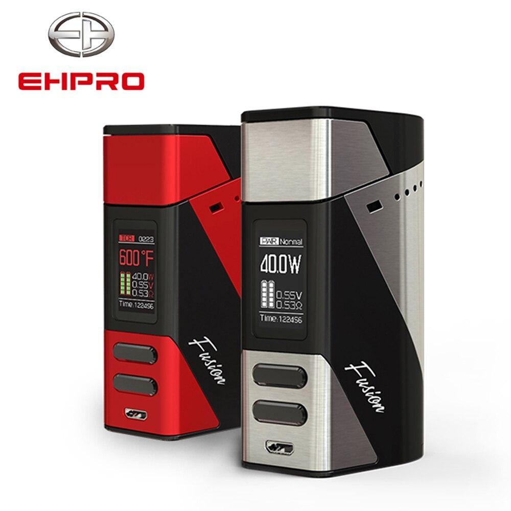 Original Ehpro Fusion 200 W TC Mod fit 18650 batterie Cigarette électronique 510 fil métal boîte de contrôle de température mod pour RDA