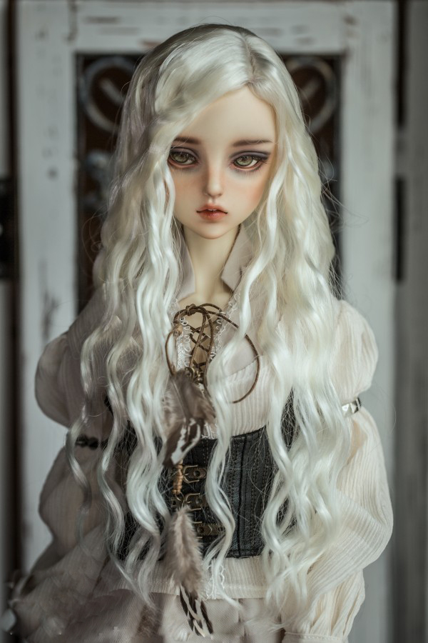 BJD doll wigs imitation mohair for 1/3 1/4 1/6 BJD DD SD MSD YOSD doll wire long curly hair wigs doll accessories