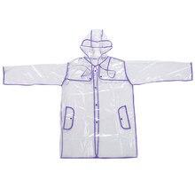 Women Lady Unisex Man Transparent Poncho Hoodie Waterproof Coat Jacket Windbreaker Raincoat Rainwear Black/Yellow/Red/Purple