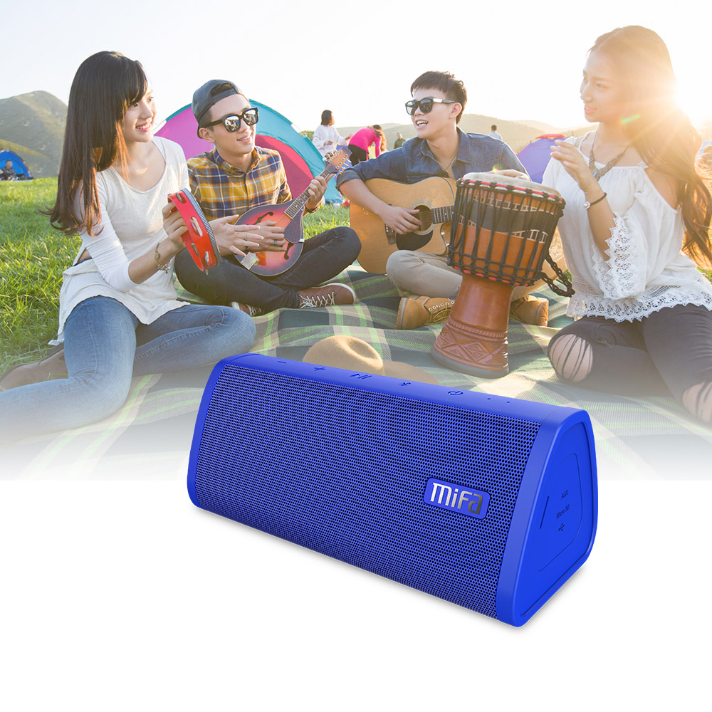 blue Portable Water Resistant Bluetooth speaker