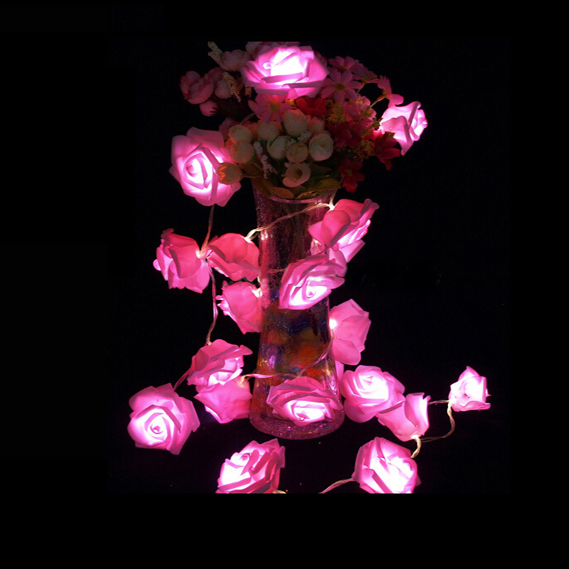 2019 Best Gift LED Rose Flower LED String Lights Batteridrift Event - Ferie belysning - Bilde 5