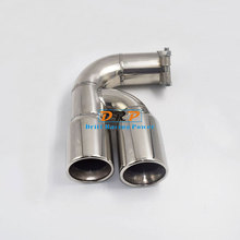 Car-styling! Hot!High Quality 1 to 2 Modified Stainless Steel Car Exhaust Muffler Tip  For BMW NEW 1 series 118 f20