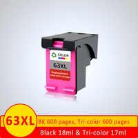 XiangYu cartuchos de tinta remanufacturado para HP 63 XL 63XL HP63 HP63XL Deskjet serie 3632, 1110, 1111, 2131, 4250 de inyección de tinta