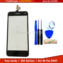 Tools+3M Sticker Original Touch Screen For MPai 809T Glass sensor for M-Pai 809T CT3S0899FPC-A2-E touch screen digitizer Black