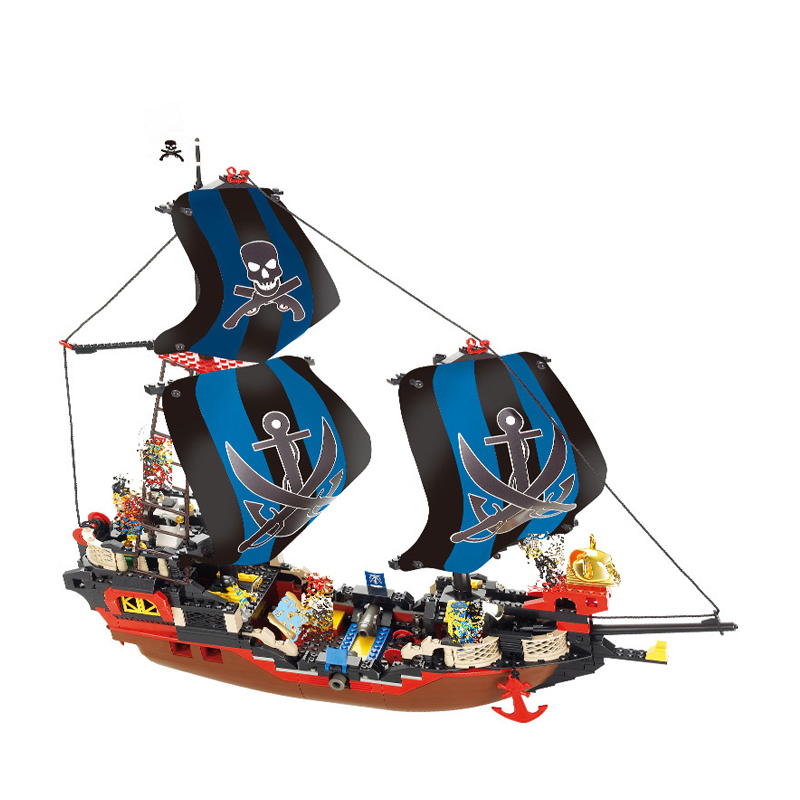 Wonderful Pirate Black Pearled Ship Boat Models Building Blocks Compatible Legoings Developmental Toys For Children red pirate ship blocks compatible legoingly war pirate king character action diy bricks cannon building blocks toys for children