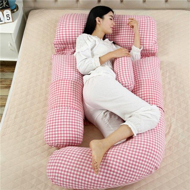 Big 180cm*110*75 U Type Pregnancy Pillows Maternity belt body pillow Breastfeeding pillow pregnant Side Sleepers throw pillows