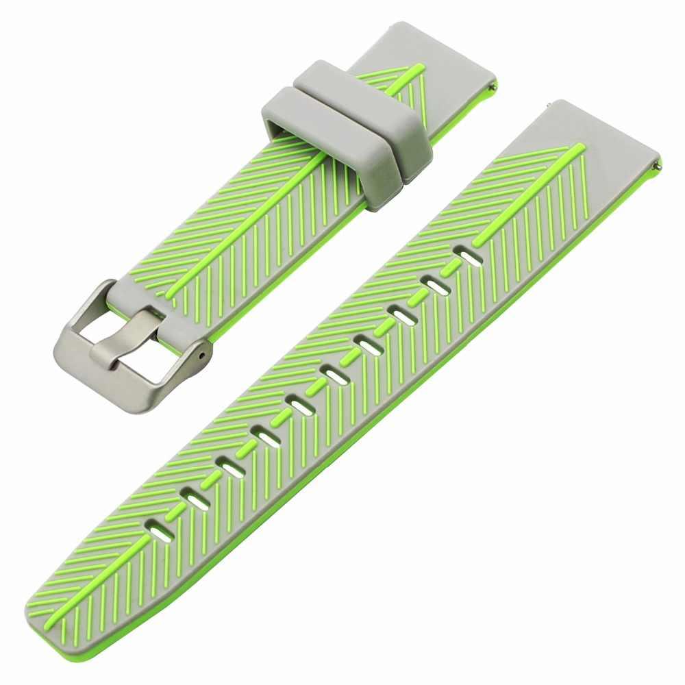 Pulsera para Xiaomi Huami Amazfit de 22mm, correa de silicona de apertura rápida para reloj Xiaomi Huami Amazfit, correa de goma para reloj de dos colores, pulsera de acero con hebilla