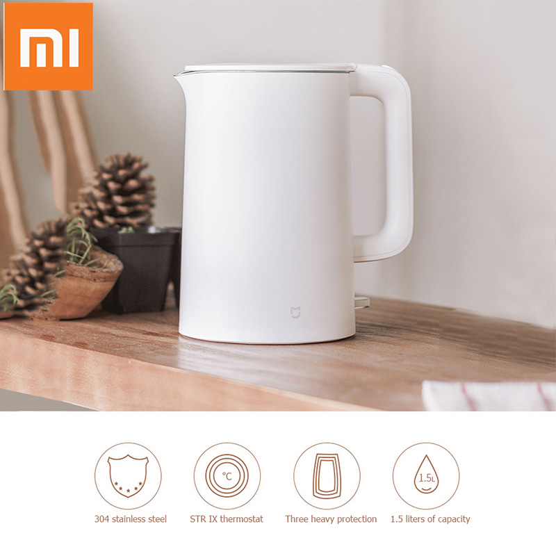 Original Xiaomi Mijia 1.5L Water Kettle Electric Handheld Auto Power-off Protection Instant Heating Electric Wired Kettle