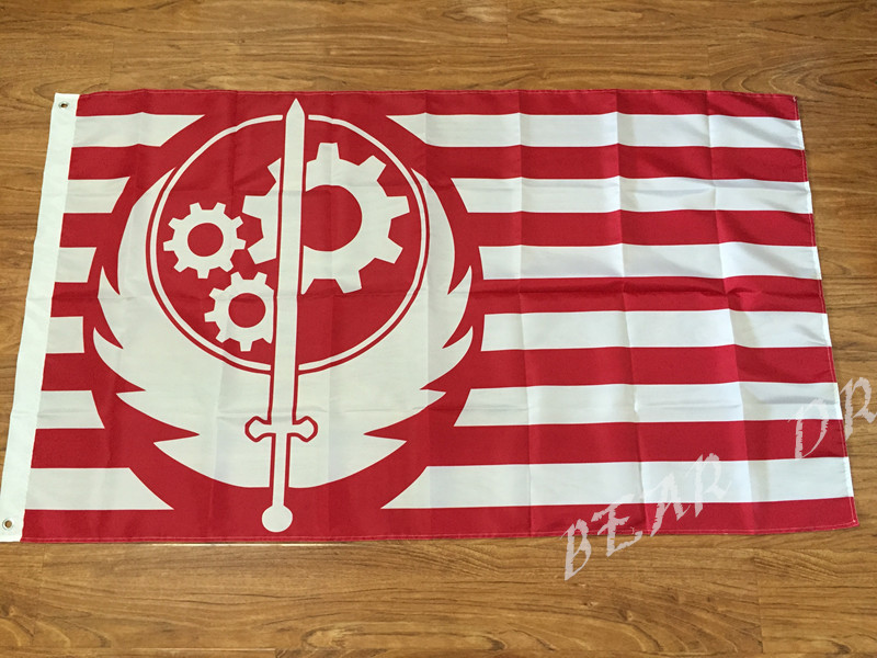 3X5FT Confrérie de l'acier drapeau Jeu Décoration Événements - Décor à la maison