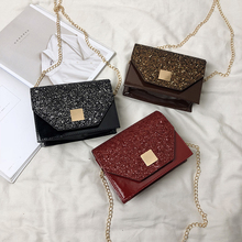 High Quality Womens Shoulder Bags 2019 New Summer Fashion Chain Mini Small Crossbody Messenger Bag For Woman Ladies Glitter Red