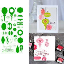 Eastashpe Clear Stamps and Dies Christmas Decoration for Card Making Brilliant Baubles Metal Die Craft for DIY Scrapbooking NEW(China)