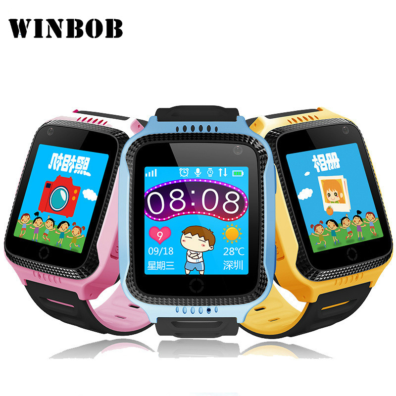 Q528 Y21 Kid GPS Smart Watch With Flashlight Baby Watch SOS Call Location Device Tracker ...