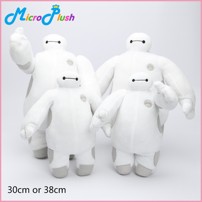 NEELUCKY 30-38cm Big White Doll Haitian Plush Toy Baymax White Fat 4 Optional Childrens Birthday Gift