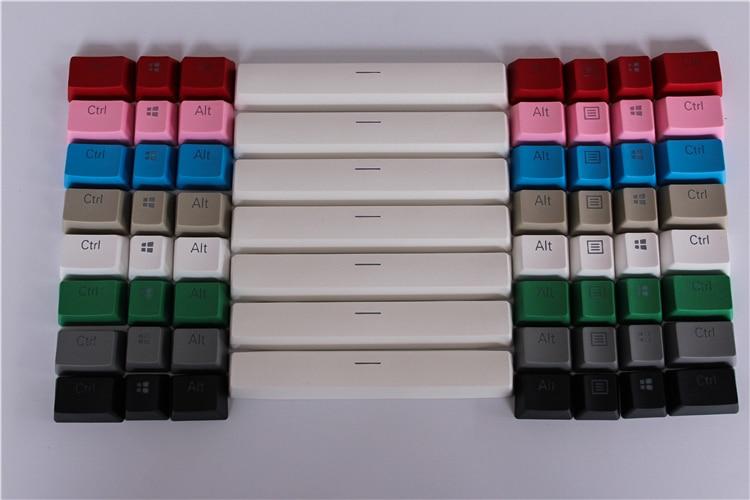 8 näppäintä Thicken PBT 6 X tyhjä tila-avain Translucidus-taustavalon lisäykset Avaimenperät Razerin langalliselle USB-mekaaniselle pelinäppäimistölle