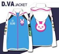 OW D VA Cosplay Jacket Hoodies Sweatshirts Video Game Tank Mecha Pilot Hana Song Hoodie Casual