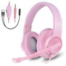 Pink Fashion Wired Gaming headset PC Stereo Headphone Butfulake SL-300 for Xbox One PS4 Game Smartphone