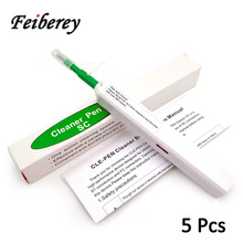 5 pcs One Click SC FC ST Fiber Optic Cleaner Pen for Cleanin Adapter and Ferrule Tool with 2.5mm SC/FC/ST Connector
