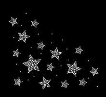 Free shipping (2pc/lot)  star stickers flatback hot fix rhinestone designs iron on transfer fixing rhinestones strass
