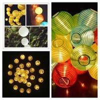 Muilt Color 30 LED Lantern Ball Solar String Lights Outdoor Solar Lamp Fairy Globe Christmas Decorative