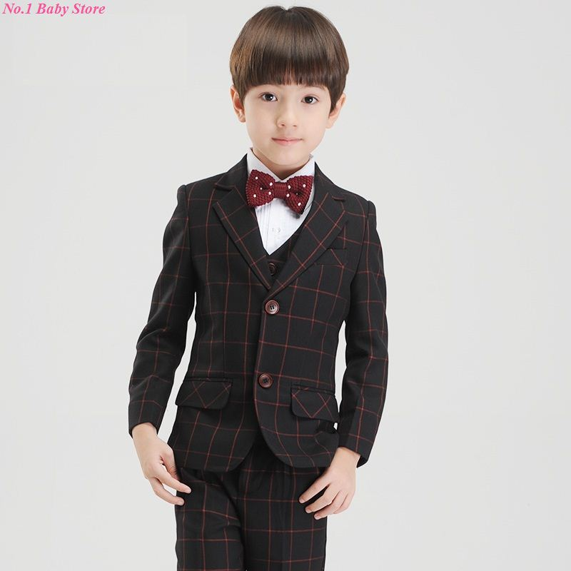 Top quality baby boy suit, child formal dress, baby suit ,jacket+vast+long sleeve shirt+bow+Pant,free shipping! baby care top top