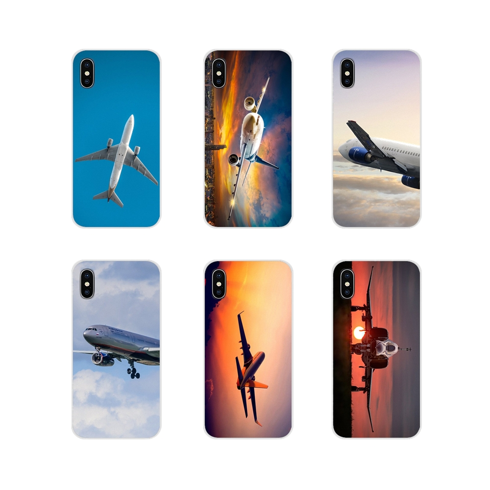 Aircraft Airplane Fly Travel In The Sky Phone <font><b>Case</b></font> For Xiaomi Redmi Note 6A <font><b>MI8</b></font> Pro S2 A2 Lite <font><b>Se</b></font> MIx 1 Max 2 3 For Oneplus 3 6T image