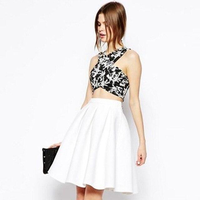 fa197a4e15d summer Women Chiffon Tulle Skirt White faldas High waist Midi Knee Length  Chiffon plus size Female Tutu Skirts