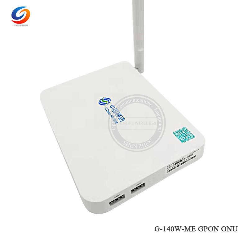 Оптовая продажа 4 шт. Gpon G-140W-ME ONU 4GE + 1 голос + 2USB + wifi 2,4G & 5G FTTH gpon ont английская версия (без коробок)
