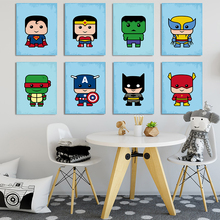 Cartoon Super Full Hero Movie Character Canvas Art Abstract Painting Print Poster Picture Wall Bedroom Home Nordic Decoration