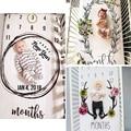 Phantasie Baby Bett Blatt geboren Fotografie Requisiten Monatlichen Wachstum Hintergrund Decken Schöne Süße Drop Schiff-in Kissenbezug aus Mutter und Kind bei