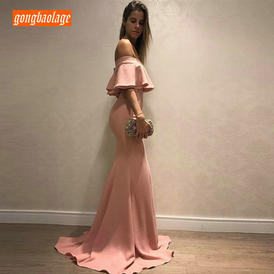 fashionable Mermaid Long Evening Gown 2019 Women Party Dresses Sweetheart Satin Zipper Slim Fit Pageant Guest Lady Formal Dress(China)