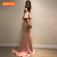fashionable Mermaid Long Evening Gown 2019 Women Party Dresses Sweetheart Satin Zipper Slim Fit Pageant Guest Lady Formal Dress
