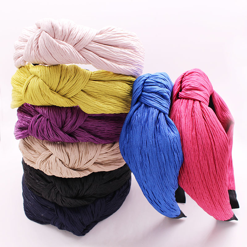 Bohemian Colored Cotton Knot Headband Hairband Hair Accessories Hair Jewelry