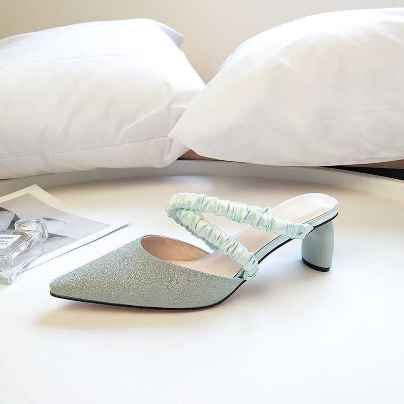 TXCNMB scarpe donna 2019 di Modo Punk Sandali Delle Donne di Estate Nuovi Tacchi Alti Night Club Scarpe Donna Classic Solid Banda Stretta scarpe