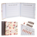 120Colors Nail Art Color Card Book UV Gel Polish Display Showing Shelf Blank Chart Flower Pattern Inlaid Tip Style Manicure Tool