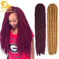 Havana Mambo Twist Crochet Braid Hair Extensions Synthetic Ombre Freetress Gray Braiding Hair 22inch janet collection
