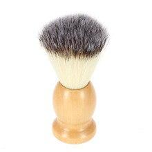 1 pc Nylon Beard Brush Kuning Kayu Menangani Sikat Cukur Wajah Beard Membersihkan ToolHK60