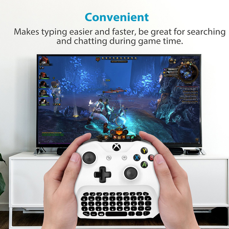 47 Keys Wireless 2.4G Mini Keyboard Gaming Chatpad Message Gamepad Print Keyboard For Microsoft XBOX ONE Slim Controller Video