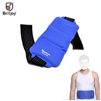 Brilljoy Flexible Gel Ice Pack belt & Wrap with Elastic Strap for Hot Cold Therapy Sprains Muscle Pain cold physiotherapy bag